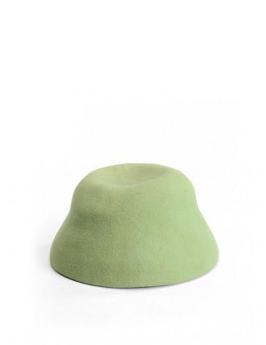 ШЛЯПКА фетровая зеленого цвета