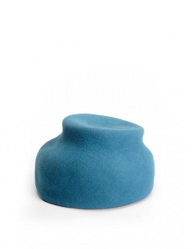 ШЛЯПКА фетровая голубого цвета